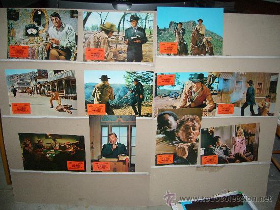 EL POKER DE LA MUERTE DEAN MARTIN ROBERT MITCHUM JUEGO COMPLETO (Cine - Fotos, Fotocromos y Postales de Películas)
