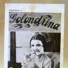 Cine: POSTAL PUBLICITARIA, SUSCRIPCION A LA REVISTA CINE NOVELAS, GOLONDRINA, FELICITACION DE NAVIDAD 1935. Lote 24021485