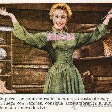 Cine: CROMO PELÍCULA SIETE NOVIAS PARA SIETE HERMANOS NR. 9 COLECCIÓN FLORITA REVISTA PARA NIÑAS AÑOS 50. Lote 26659144