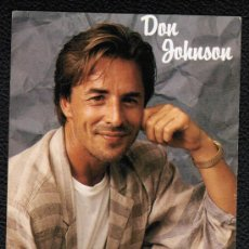 Cine: POSTAL DE DON JOHNSON. Lote 24590356