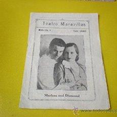 Cine: FOLLETO TETRO MARAVILLA . Lote 25632585