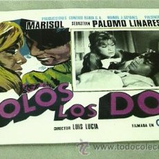 Cine: MARISOL 8 CARTELERAS MEXICANAS DEL FILM SOLO LOS DOS 32 X 40 CTMS. . Lote 25780184