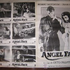 Cine: ANGEL FACE CARA DE ANGEL ROBERT MITCHUM JEAN SIMMONS - 6 FOTOCROMOS Y POSTER ORIGINALES DEL ESTRENO. Lote 25879733