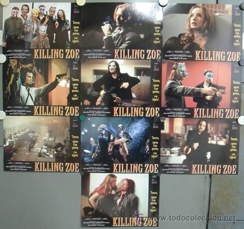 NW48 KILLING ZOE ERIC STOLTZ JULIE DELPY ANGLADE TARANTINO SET COMPLETO 10 FOTOCROMOS ORIG ESTRENO (Cine - Fotos, Fotocromos y Postales de Películas)