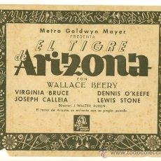 Cine: WALLACE BEERY - EL TIGRE DE ARIZONA - LOTE DE 11 FOTOCROMOS ORIGINALES. Lote 26308098