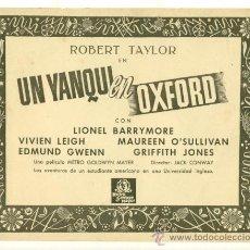 Cine: ROBERT TAYLOR , VIVIEN LEIGH - UN YANQUI EN OXFORD - LOTE DE 6 FOTOCROMOS ORIGINALES. Lote 26308180
