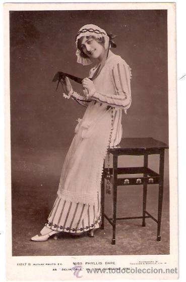 TARJETA POSTAL DE ACTORES. MISS PHYLLIS DARE. 1181B. ROTARY PHOTO. AS DELIA DALE IN SUNSHINE GIRL. (Cine - Fotos y Postales de Actores y Actrices)