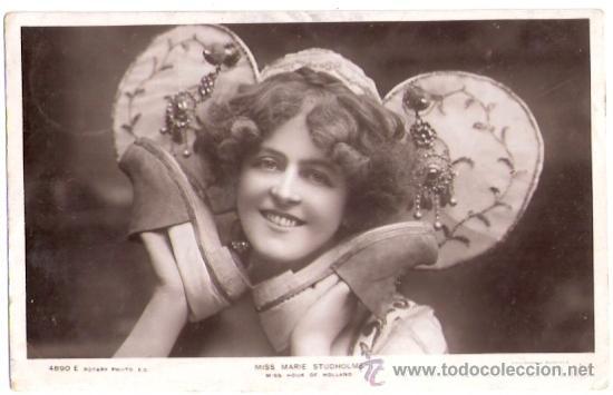 TARJETA POSTAL DE ACTORES. MISS MARIE STUDHOLME. 4890E. ROTARY PHOTO. MISS HOOK OF HOLLAND. (Cine - Fotos y Postales de Actores y Actrices)