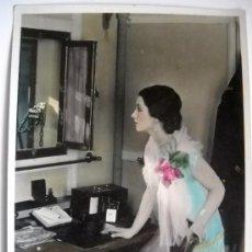 Cine: CINE MUDO 1926 - LOTE 15 FOTOGRAFIAS COLOREADAS A MANO FILM NOCHE DE BATALLA. Lote 26691300