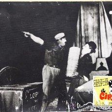 Cine: EL CIRCO , CHARLES CHAPLIN , CHARLOT , CARTON DURO. ORIGINAL , ANTIGUO. Lote 27452006