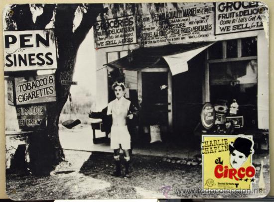 EL CIRCO , CHARLES CHAPLIN , CHARLOT , CARTON DURO. ORIGINAL , ANTIGUO (Cine - Fotos, Fotocromos y Postales de Películas)