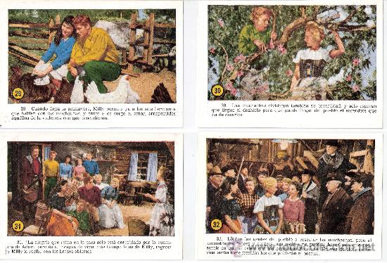 Cine: SIETE NOVIAS PARA SIETE HERMANOS -COL.COMPL.32CROMOS TAMAÑO POSTAL-VER FOTOS-(42.617) - Foto 9 - 27633903