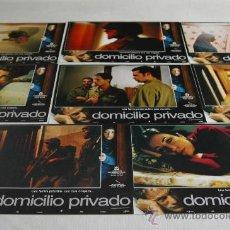 Cine: DOMICILIO PRIVADO - 8 FOTOCROMOS ORIGINALES. Lote 28026500