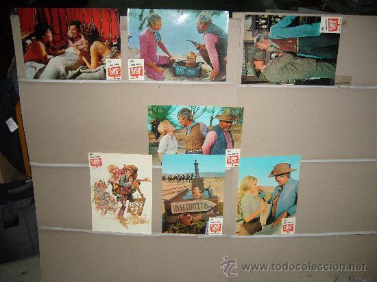 EL OESTE LOCO JAMES COBURN 7 FOTOCROMOS ORIGINALES (Cine - Fotos, Fotocromos y Postales de Películas)