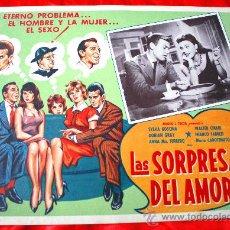 Cine: LAS SORPRESAS DEL AMOR 1959 (LOBBY CARD ORIGINAL) SYLVA KOSCINA WALTER CHIARI DORIAN GRAY. Lote 28626315