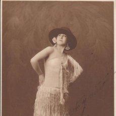 Cine: FOTOGRAFÍA DEDICADA: CARMEN (¿?), ACTRIZ, VEDETTE. 1924 - CABARET. Lote 28780725