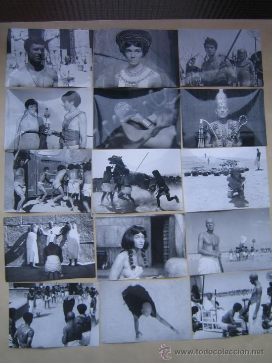 FARAON PHARAOH - 15 FOTOS ORIGINALES B/N ESPAÑOLAS REPOSICION JERZY KAWALEROWICZ EGIPTO EGYPT (Cine - Fotos, Fotocromos y Postales de Películas)