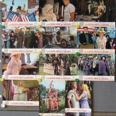 Cine: OQ77 LOS LOCOS AÑOS DE CHICAGO MELINA MERCOURI SET COMPLETO 12 FOTOCROMOS ORIGINAL ESTRENO. Lote 29902713