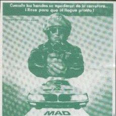 Cine: MAD MAX, SALVAJES DE AUTOPISTA. Lote 31202021