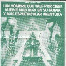 Cine: MAD MAX 2, EL GUERRERO DE LA CARRETERA. Lote 31202024