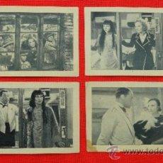 Cine: EL EXPRESO DE SHANGHAI, 4 CROMOS CHOCOLATE MUNDIAL, MARLENE DIETRICH, PELÍCULA DE 1932. Lote 31285194
