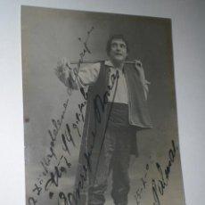 Cine: FOTO-POSTAL DEDICADA DEL ACTOR ENRIQUE BORRÁS (LAS PALMAS, 1906). Lote 30953611