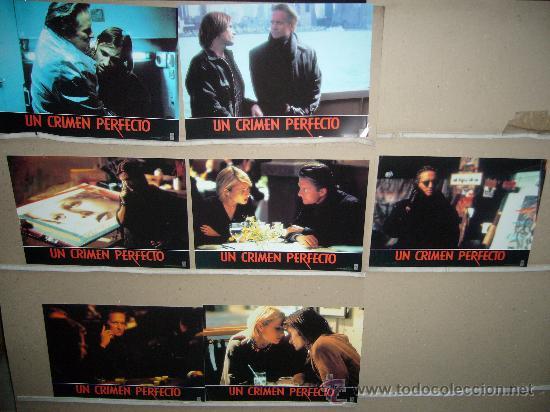 UN CRIMEN PERFECTO MICHAEL DOUGLAS 7 FOTOCROMOS ORIGINALES YY(446) (Cine - Fotos, Fotocromos y Postales de Películas)