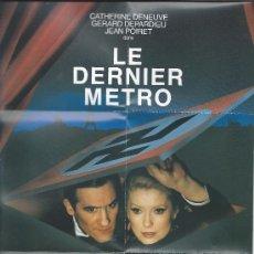 """Cine: 3915- MINI CARTEL DEL FILM : """"EL ULTIMO METRO"""" DE F. TRUFFAUT. Lote 31849839"""