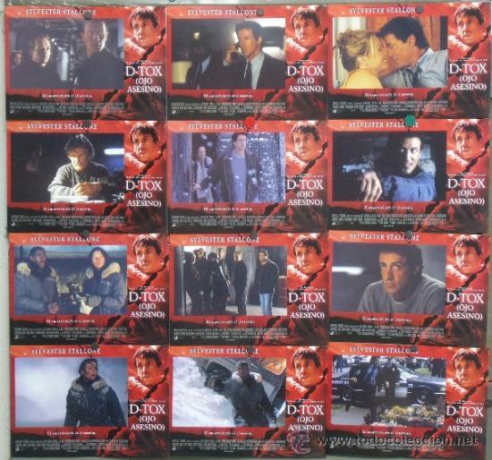 PC64 D-TOX OJO ASESINO SYLVESTER STALLONE TOM BERENGER SET COMPLETO 12 FOTOCROMOS ORIGINAL ESTRENO (Cine - Fotos, Fotocromos y Postales de Películas)
