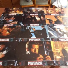 Cine: PAYBACK,MEL GIBSON 12 FOTOCROMOS (3717). Lote 32448412