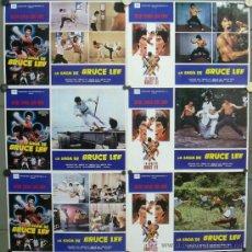 Cine: PD24 LA SAGA DE BRUCE LEE LU HSIAO LUNG JOSEPH KONG SET 6 FOTOCROMOS GRANDES ORIGINAL ESTRENO. Lote 32463869