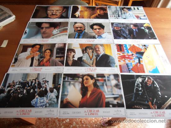 AL CRUZAR EL LIMITE,GENE HACKMAN,HUGH GRANT 12 FOTOCROMOS (7445) (Cine - Fotos, Fotocromos y Postales de Películas)