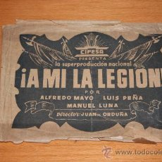 Cine: A MI LA LEGION 1942 ALFREDO MAYO CIFESA 25 FOTOCROMOS. Lote 33302229