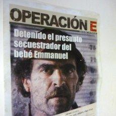 Cine: OPERACION E - FOLLETO DE MANO ORIGINAL FORMATO PERIODICO - 16 PAG - LUIS TOSAR. Lote 33446377
