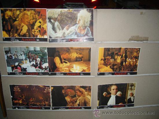 AMADEUS MILOS FORMAN 8 FOTOCROMOS ORIGINALES Q (Cine - Fotos, Fotocromos y Postales de Películas)