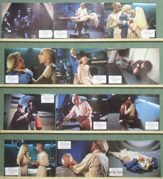 PQ35 ANDROIDE KLAUS KINSKI SET COMPLETO 12 FOTOCROMOS ORIGINAL ESTRENO (Cine - Fotos, Fotocromos y Postales de Películas)