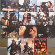 Cine: PR54 PIRATAS DEL CARIBE JOHNNY DEPP ORLANDO BLOOM SET 12 FOTOCROMOS ORIGINAL ESTRENO. Lote 236385305