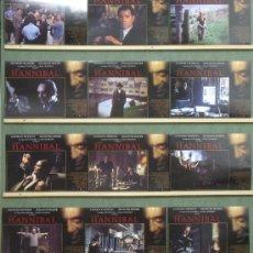 Cine: QC56 HANNIBAL ANTHONY HOPKINS SET COMPLETO 12 FOTOCROMOS ORIGINAL ESTRENO. Lote 33983704