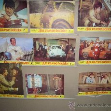 Cinema: AHI VA ESE BOLIDO WALT DISNEY AUTOMOVILISMO VOLKSWAGEN 9 FOTOCROMOS ORIGINALES B(438). Lote 34262573