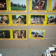 Cine: LAS SIETE MAGNIFICAS Y AUDACES MUJERES SARA MORA BLANCA ESTRADA GALBO 11 FOTOCROMOS ORIGINALES B(510. Lote 34329022
