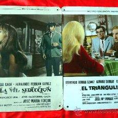 Cine: LA VIL SEDUCCION Y EL TRIANGULITO (3 FOTOCROMOS ORIGINALES DE CARTON) ANALIA GADE FERNANDO F.GOMEZ. Lote 34338453