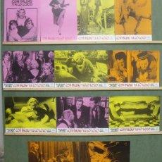 Cine: QC89 CON FALDAS Y A LO LOCO MARILYN MONROE LEMMON WILDER SET COMPLETO DE 12 FOTOCROMOS ORIGINAL. Lote 34616706