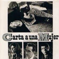 Cine: 4 FOTOMONTAJES DE PROMOCION 'CARTA A UNA MUJER':EMMA PENELLA,LUIS PRENDES,J.GUARDIOLA,RAFAEL DURAN. Lote 34598749