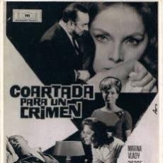 Cine: 4 FOTOMONTAJES PROMOCIONALES DE LA PELÍCULA 'COARTADA PARA UN CRIMEN':MARINA VLADY,BOUVRIL,BRASSEUR,. Lote 34598995