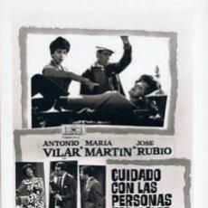 Cine: 4 FOTOMONTAJES PROMOCIONALES DE LA PELÍCULA 'CUIDADO CON LAS PERSONAS FORMALES' ALFONSO PASO. Lote 34599140