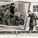 Cine: 3 FOTOMONTAJES PROMOCIONALES DE LA PELÍCULA 'DOMINGO SIEMPRE DOMINGO': A.SORDI, DE SICA. 18 X 24 CMS. Lote 34604003