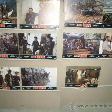 Cine: ENTRE LOBOS JOSE GIOVANNI 11 FOTOCROMOS ORIGINALES B. Lote 34612742