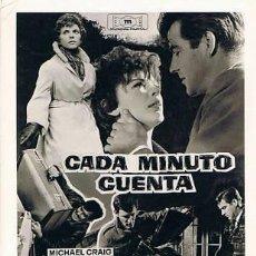 Cine: 2 DOS FOTOMONTAJES DE LA PELÍCULA 'CADA MINUTO CUENTA' DE MICHEL CRAIG. Lote 34654943