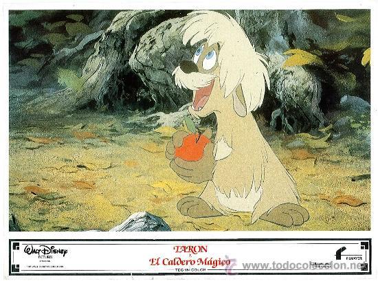 Cine: Juego de 8 fotocromos de la pelicula Taron y el caldero mágico Walt Disney - Foto 2 - 34673369