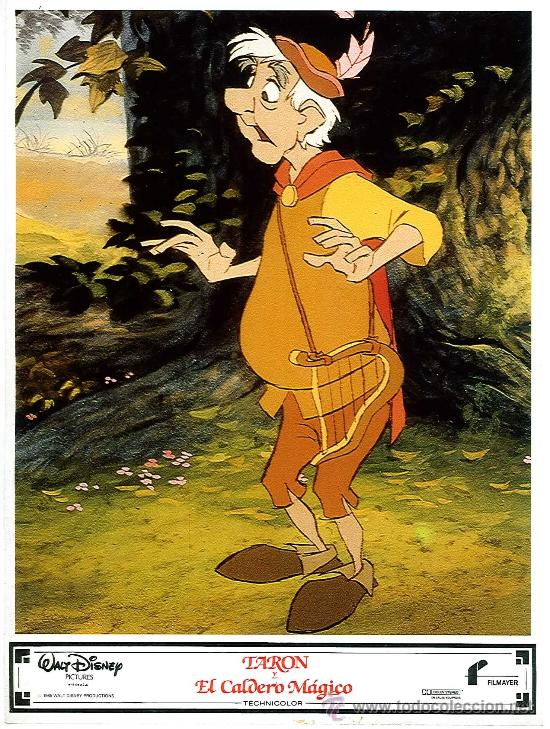 Cine: Juego de 8 fotocromos de la pelicula Taron y el caldero mágico Walt Disney - Foto 3 - 34673369